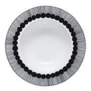 Marimekko - Siirtolapuutarha Tallrik djup 20 cm Svart/vit