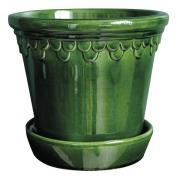 Bergs Potter - Köpenhavner Kruka/fat 18 cm Grön emerald