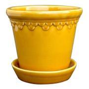 Bergs Potter - Köpenhavner Kruka/fat 14 cm Gul amber