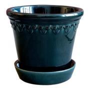 Bergs Potter - Köpenhavner Kruka/fat 16 cm Blå petroleum