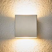 LED-utomhusvägglampa Jana, rostfritt stål 10x10 cm