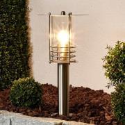 Elegant sockellampa Miko av rostfritt stål
