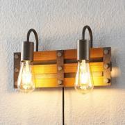 Lindby Jamina trävägglampa, 2 lampor